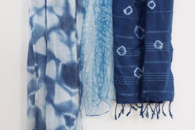 Sunday Fun Day: Shibori Dye a Cotton Scarf - TXRX Labs